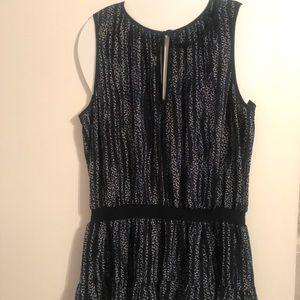 Blue cheetah print sleeveless tunic